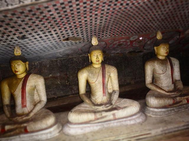 Dambulla Caves Three Buddhas